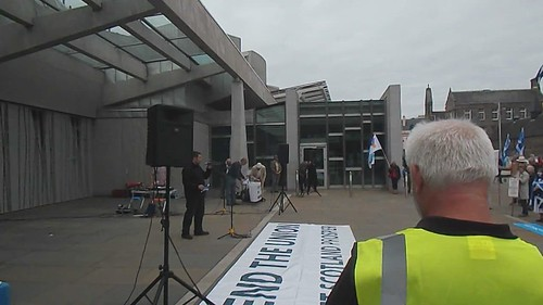 Rally at the Scottish Parliament.