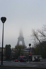 Eiffel Tower in Clouds