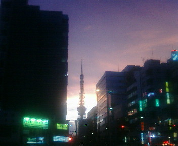 tokyo tower by Poisson