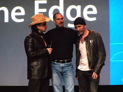 Mssrs. Bono, The Edge, and The Steve (andyi) Tags: apple u2 ipod sanjose bono hero stevejobs theedge keynote goodn