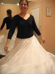 Swishy (jacqueline-w) Tags: oct30 julia wedding dress shopping slip spin fun silly dressingroom swishy skirt jacquelinew badge