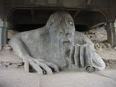 the freemont troll, photographed by Thom Watson