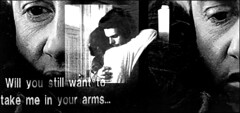 "Subtext:  ""...will you still want to take me in your arms..."" (shadowplay) Tags: experiment subtitles tripleexposure subtext printscan patriceleconte georgessimenon michelblanc monsieurhire willyoustillwant totakemeinyourarms"