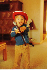Christopher playing cowboy (greenelfmom) Tags: boy toddler child littleboy toph littlecowboy topheurope