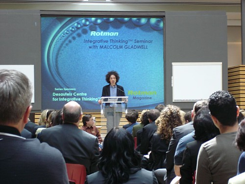 gladwell speaking at rotman