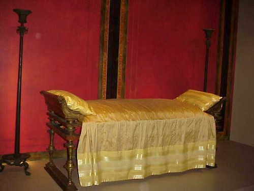 Roman Dining Couch (lectus) made of wood with bronze adornments 1st century BCE