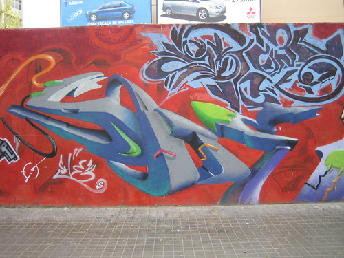 Graffiti wildstyle image - incopy editing photos
