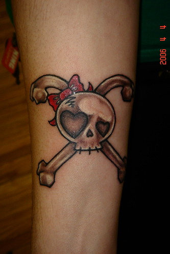cute skull tattoos. girl skull