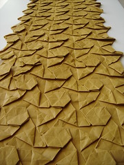Tessellations by Danilo from Chile (EricGjerde) Tags: chile santiago art origami display geometry library exhibition tessellation tesselation paperfolding papiroflexia danilo origamitessellation 折り紙 origamiforum tassellazione origamichile