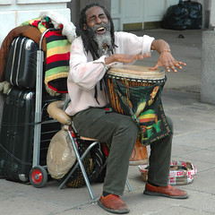 Celebration (naughton321) Tags: musician music black london beautiful square drum djembe coventgarden busking rasta bobmarley rastafarian