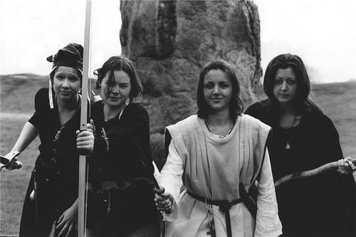 Group shot of us posing as fantasy warriors.