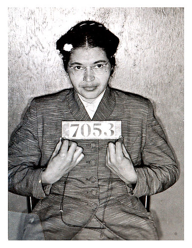 Rosa Parks' mugshot, February 1956, Courtesy of Richard Banks, Creative Commons: Attribution BY-NC-N