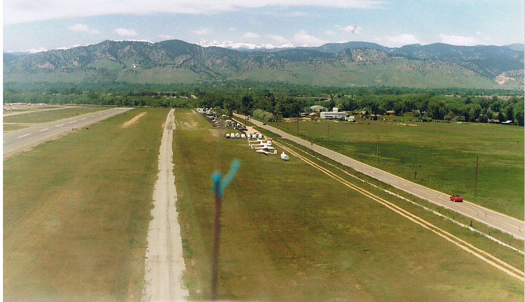 Glider - View before landing