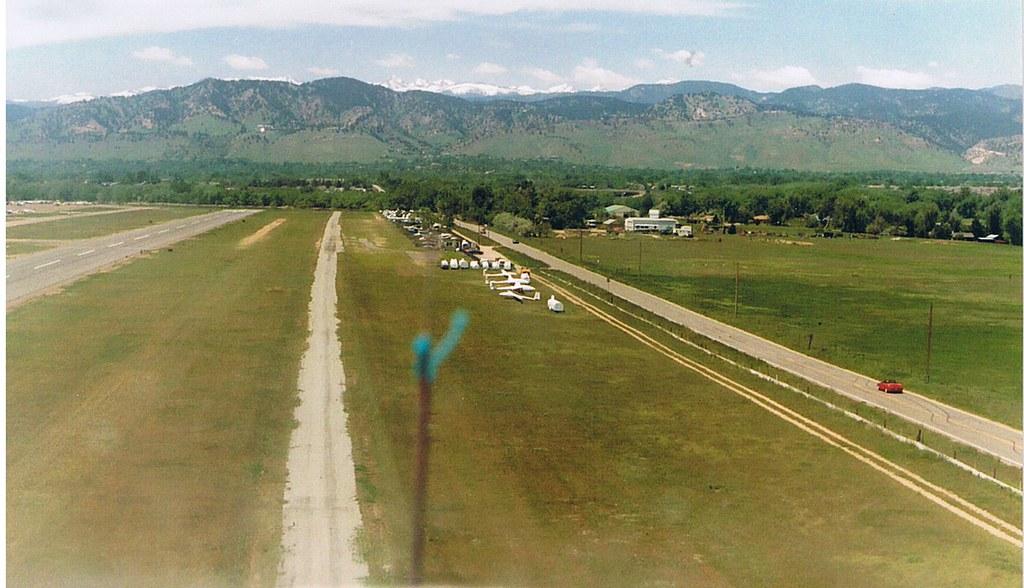 Glider - View before landing