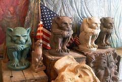 gargoyles for the USA (Cutting Monkey) Tags: usa flag gargoyle