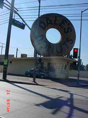 BIG donut drive-by (stonebird) Tags: california light red usa compton driveby atlantic aerialtaggers alondra stonebird bigdonut