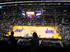 Lakers vs. Clippers (kinsiekins) Tags: basketball losangeles downtown lakers clippers staplescenter