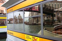 On the Vaporetto in Venice,Italy