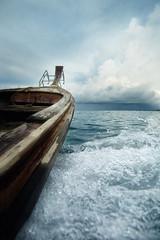 on the way to koh kai island (Nachosan) Tags: sea thailand boat longtail nachosan splah nikonstunninggallery
