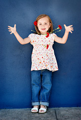 flowers today (sesame ellis) Tags: flowers blue red portrait girl fashion children fun kid model child bright commercial notmykid editorial job carnations redcarnation racheldevinecom