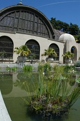 Balboa Park Botanical Garden (cwgoodroe) Tags: california park flower water fountain pool architecture reflecting san sandiego diego fisheye sd balboa balboapark sandeigo