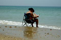Reading (eyair) Tags: sea beach reading israel haifa     ashmashashmash