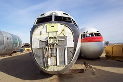 707 nose sections (Telstar Logistics) Tags: california ruins aircraft boneyard elmirage jetsetruin