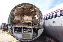 Cross Section, Boeing 707 (Telstar Logistics) Tags: california ruins aircraft 707 boneyard elmirage jetsetruin