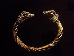 Gold Bracelet with Antelope-Heads Greek 4th century BCE (mharrsch) Tags: greek gold ancient treasure maryland jewelry baltimore antelope 4thcenturybce artifacts waltersartmuseum metalworking hellenistic penannular mharrsch