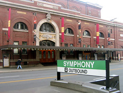 Symphony Hall (Entrance) (AntyDiluvian) Tags: red boston spring entrance uptown symphonyhall huntingtonavenue reddoors march2006 bostonsymphonyorchestra jamesgalway bostonsymphony rushseat