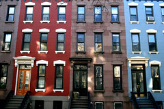 C (DavidGardinerGarcia) Tags: blue homes red house newyork architecture brooklyn townhouse parkslope streetscape brownstone brownstones rowhouse individuality italianate carrolstreet newyorkarchitecture brownstonebuildings