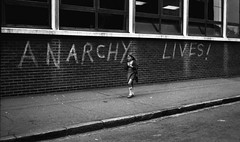 Anarchy lives (JudyGr) Tags: graffiti anarchism 1970s slogan eastlondon scannedfromnegative mostinterestingnongwl anarchylives