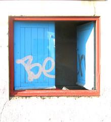 opeN (asboluv) Tags: street door urban graffiti open decay tag scrawl