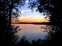 VanRiper State Park (CaptPiper) Tags: statepark trees sunset lake topf25 interestingness michigan roadtrip negativespace frame