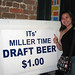 Eva with Miller Sign