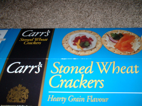 image of stoned crackers (stone-ground wheat)