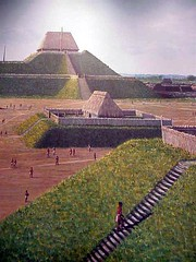 Cahokian temple structures (mharrsch) Tags: archaeology mississippi ancient native indian missouri hopewell cahokia moundbuilders mississippian mounds artifacts mharrsch mississippianculture cahokiainterpretivecenter