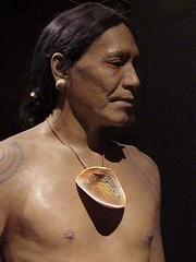 Cahokia warrior closeup (mharrsch) Tags: archaeology mississippi ancient native indian missouri hopewell cahokia moundbuilders mississippian mounds artifacts mharrsch mississippianculture cahokiainterpretivecenter