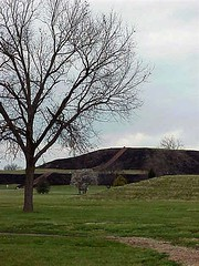 Monk's mound (mharrsch) Tags: archaeology topv111 mississippi ancient native indian missouri hopewell cahokia moundbuilders mississippian mounds artifacts mharrsch mississippianculture cahokiainterpretivecenter