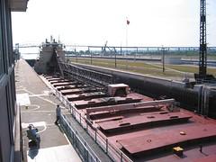 Freighter at the Soo Locks (bushidoking) Tags: saultstemarie soolocks