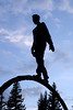 Balancing Act (sweetnsourtang) Tags: silhouette statue clouds balancing 5hits