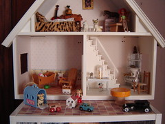 A balcony in the front of the house (Anna Amnell) Tags: miniatures miniatura dollhouse dollshouse munecas puppenhaus nukkekoti nukketalo