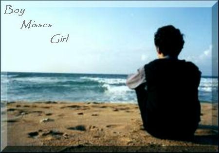boy misses girl
