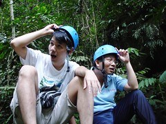 We Are! We Are! We Are! The Engineers! (Kenny Fong) Tags: camping waterfall sungai langat lepor hulu