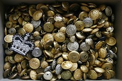 one more box (torontofotobug) Tags: buttons military memories collection detritus brass aging shoebox