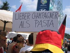 Lieber Champagner als Pasta