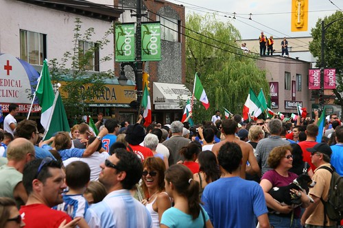 Commercial Avenue, World Cup party, Vancouver