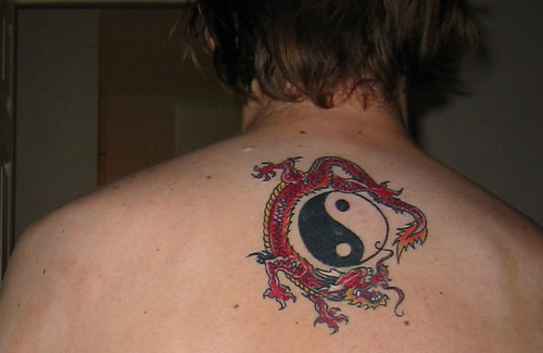 Jazz club · sunshine · Dragon / Yin Yang tattoo