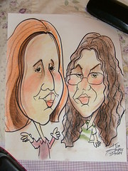Caricature of Brenda and Becca