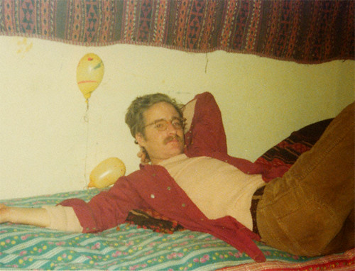 jesse in kabul in the 70's . in one of the good hotel rooms .